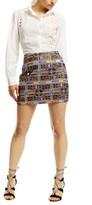 Nicole Miller Panama Tiles Mini Skirt
