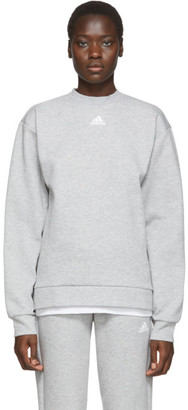 adidas Grey Must Haves 3-Stripes Sweatshirt