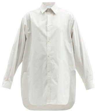 Raey Oversized Dropped-shoulder Cotton-blend Shirt - Light Grey