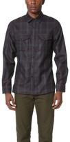 Todd Snyder Tonal Plum Check Shirt Jacket