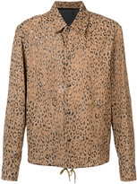 Alexander Wang leopard print shirt jacket - men - Lamb Skin - 42