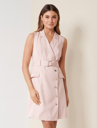 Forever New Cori Double-Breasted Dress - French Rose - 10