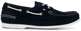 Tommy Hilfiger Contrast Stitch Boat Shoes