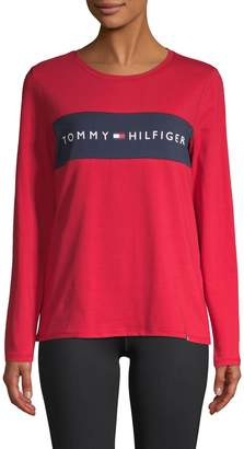 Tommy Hilfiger Logo Cotton Long-Sleeve Tee