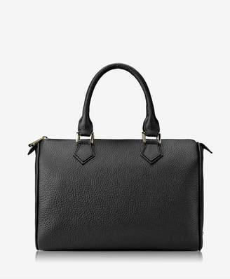 GiGi New York Brooke Barrel Bag In Black Pebble Grain