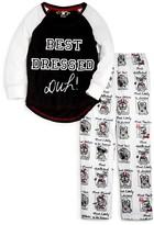 PJ Salvage Girls' Best Dressed Pooch Pajamas - Little Kid