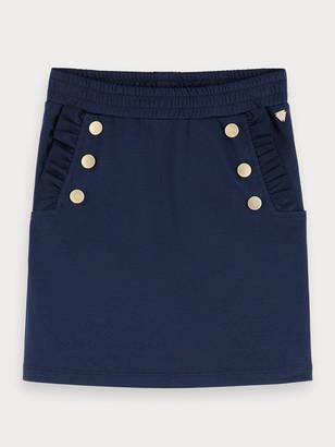 Scotch & Soda Nautical Jersey Skirt | Girls