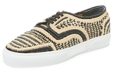 Robert Clergerie Teba Woven Low Top Sneaker