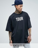 Reclaimed Vintage Super Oversized T-Shirt With Tour Print