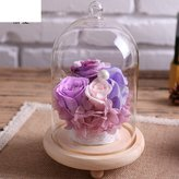 Only rose Roses In Glass Ornaments/Immortal Flower And Flower Gift Box/ Birthday Gift