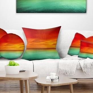 East Urban Home Seashore Artist Sunset Pillow East Urban Home