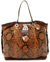 Longchamp Reptile Embossed Leather Tote