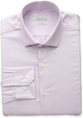 Perry Ellis Men's Very Slim Fit Performance Solid Dress Shirt