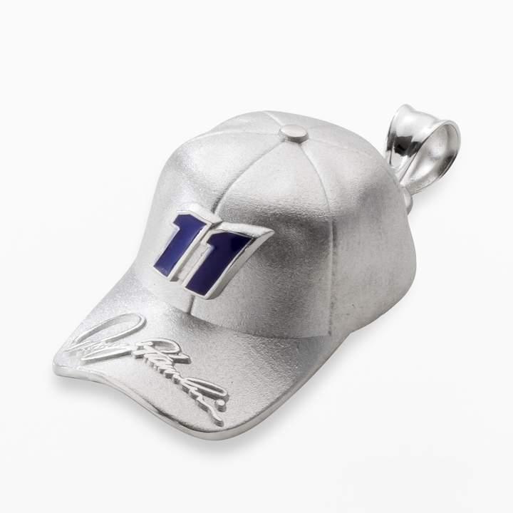 """Insignia Collection NASCAR Denny Hamlin Sterling Silver """"11"""" Baseball Cap Pendant"""
