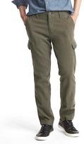 Gap Herringbone slim fit cargo pants