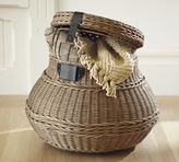Pottery Barn Jacquelyne Lidded Barrel Basket