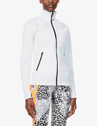 adidas by Stella McCartney High-neck recycled polyester-blend jacket