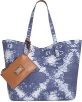Style&Co. Style & Co Clean Cut Canvas Reversible Tote with Wristlet, Created for Macy's