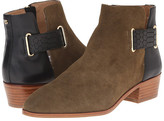 Yosi Samra Drew Suede Boot with 3D Croco Detail