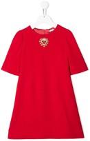 Dolce & Gabbana logo short-sleeve dress
