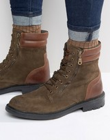 Walk London Stepney Suede Lace Up Boots