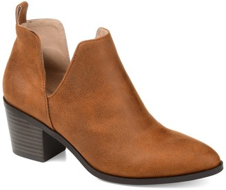 Journee Collection Lola Patterned Ankle Bootie