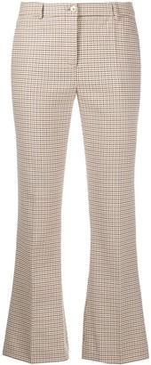Pt01 Cropped Flared-Leg Trousers