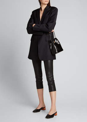 Theory Skinny Leather Capri Leggings