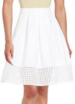 Calvin Klein Pleated Eyelet Skirt