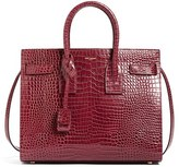 Saint Laurent 'Small Sac De Jour' Croc Embossed Calfskin Leather Tote - Red
