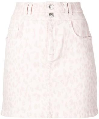 Current/Elliott leopard print denim skirt