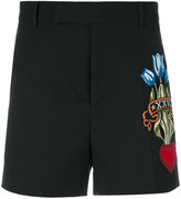 Gucci embroidered tailored shorts - men - Cotton/Viscose/Wool - 46