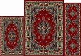 Home Dynamix Ariana Collection 3-Piece Area Rug Set - Ultra Soft & Super Durable 7069-202 Claret