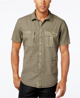 INC International Concepts Men's Porter Multi-Pocket Short-Sleeve Shirt, Only at Macy's