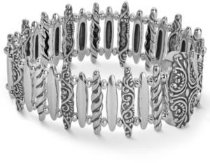 Carolyn Pollack Bar Link Magnetic Bracelet in Sterling Silver