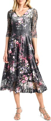 Komarov Charm Floral Print Dress