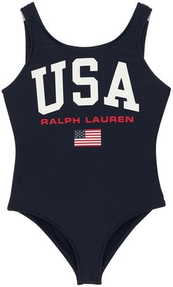 Ralph Lauren Color Block One Piece Swimsuit