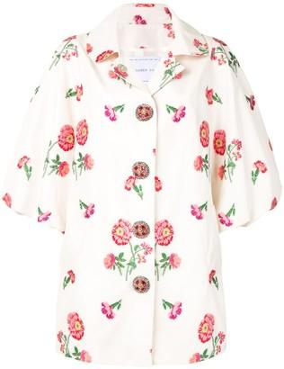 Andrew Gn Floral Brocade Coat
