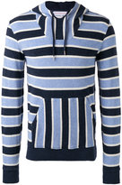 Orlebar Brown striped hooded sweatshirt - men - Cotton - S