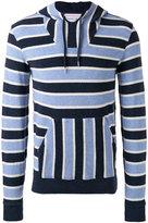 Orlebar Brown striped hooded sweatshirt