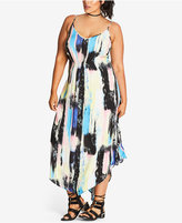 City Chic Trendy Plus Size V-Hem Maxi Dress