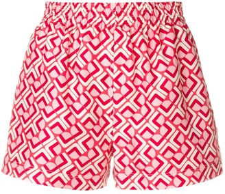 La DoubleJ Print Fitted Shorts