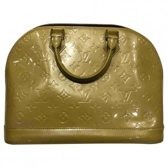 Louis Vuitton Alma Green Patent leather Handbags