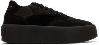 MM6 MAISON MARGIELA Black Suede Platform Sneakers