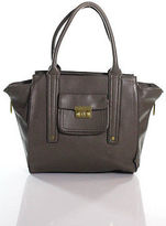 3.1 Phillip Lim For Target Gray Faux Leather Zipper Closure 4 Pocket Tote Size M