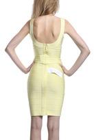 Herve Leger Sadie Dress in Lemon Ice