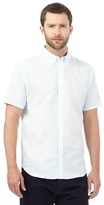 J By Jasper Conran Big And Tall Light Turquoise Linen Blend Shirt