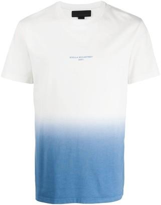 Stella McCartney logo print ombre T-shirt