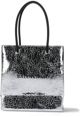 Balenciaga Crack Effect Tote Bag
