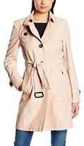 Basler Women's Single Breasted Trench Mac 6138 Long Sleeve Coat